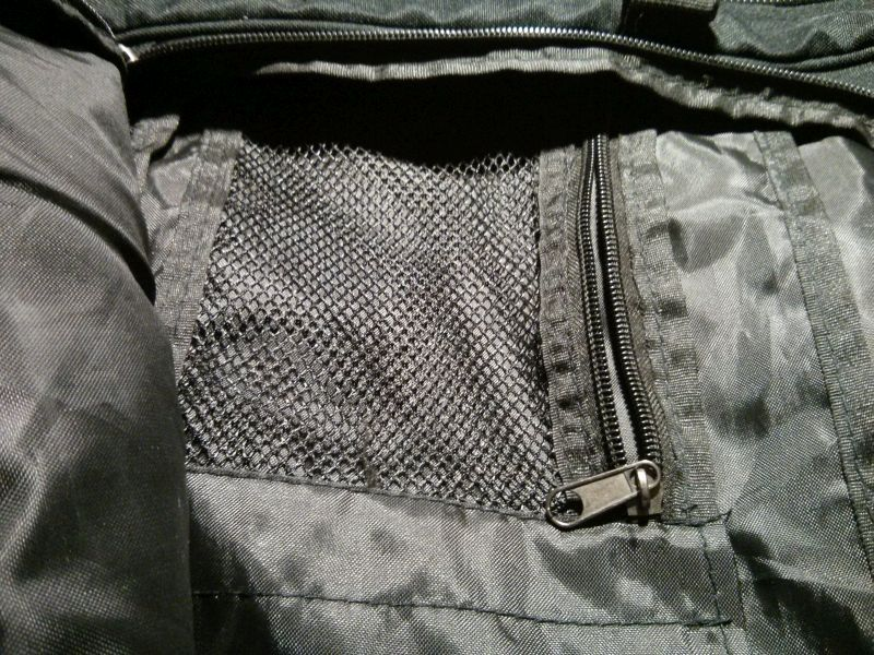 Zipped pocket that I've now sewn up