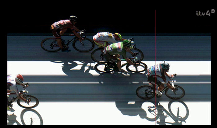 Mark Cavendish wins stage 7 (Livarot to Fougères) on the 2015 Tour de France