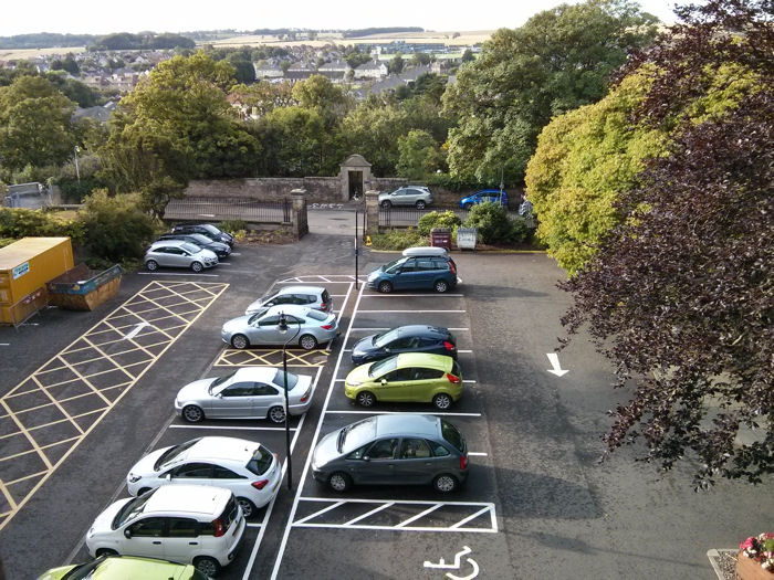 Car park at the Bute Building, St Andrews