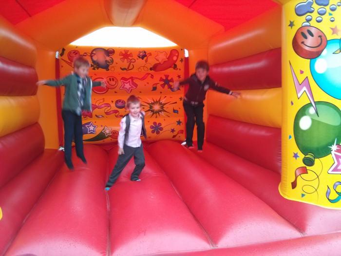 Three bouncing boys