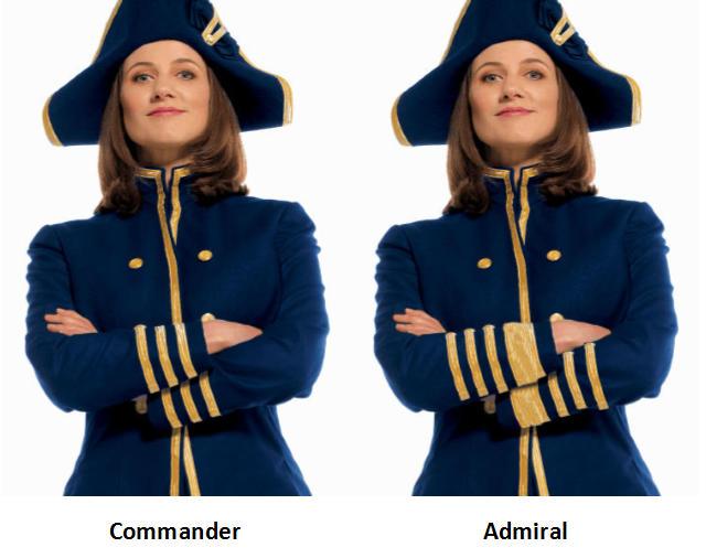 Commander vs Admiral