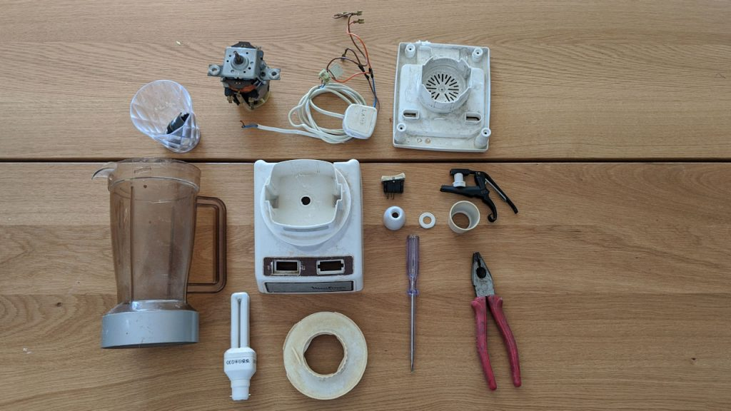 Moulinex food blender exploded into parts